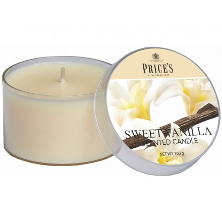 Prices Scented Candle Tin - Sweet Vanilla