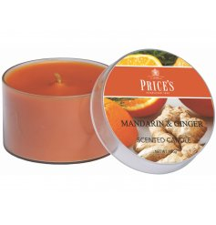 Tin candle scented Mandarin and Ginger by Prices