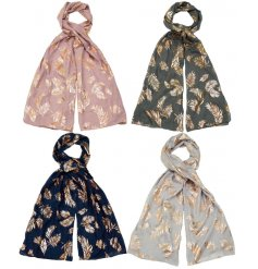 A mix of 4 super stylish scarves in an assortment of muted and on trend colours.