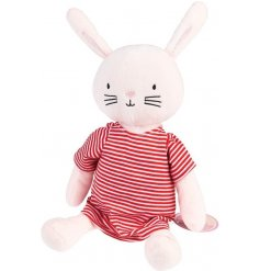 A sweet and cuddly rabbit soft toy, made from the snuggliest fur and filled with the most huggable stuffing