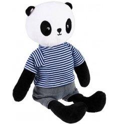 An adorably cuddly panda bear soft toy from the REX international range