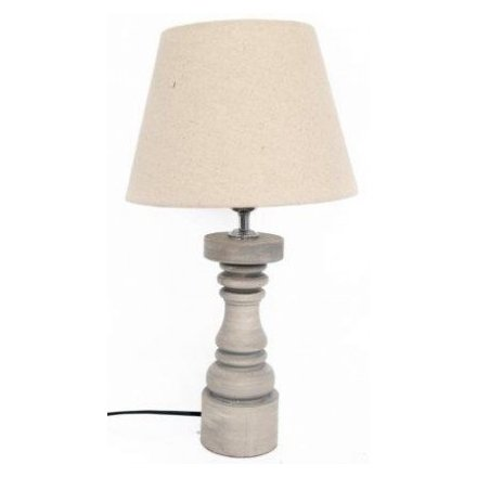 Grey Lamp W/Shade