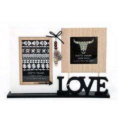 Bring a Modern Aztec touch to your home decor or displays with this charming  block photo frame decoration
