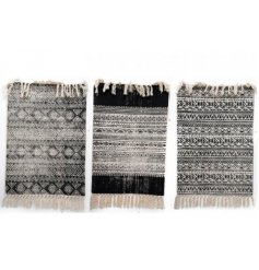Invite a Pure and Warm sense to your home space with this chic assortment of fabric rugs
