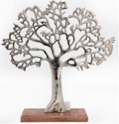 A stylish and contemporary decorative tree ornament. A chic interior accessory for the home.