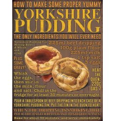 Filled with all the required instructions and ingredients to make some proper yummy yorkshire puddings