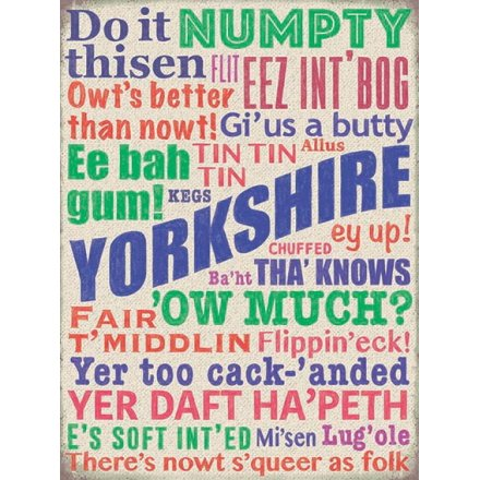 Yorkshire Words Metal sign