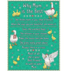 Why mum is best. A colourful and cute metal sign with a beautiful sentiment.