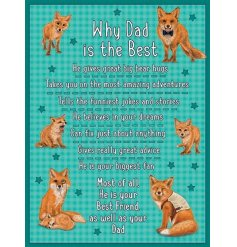 Why dad is best. A bright and colourful sentiment plaque for dad. A great gift item.