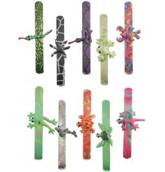 An assortment of fun and colourful themed snap bracelets,