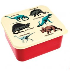 A fun and retro inspired plastic Tupperware box, perfect for little ones off to school and playdates!
