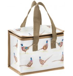 Bring a classical Country Charm to your lunch time with this Pheasant printed lunch bag