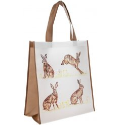 Bring a classical Country Charm to your shopping sprees with this Hare printed fabric bag