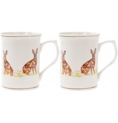 these Fine China mugs will be sure to bring a Country Charm edge to any kitchen space