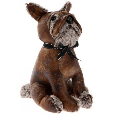 Leather Doorstop, Bulldog