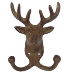 An antique style deer hook made from cast iron.