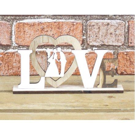 Wedding Love Plaque 22.5cm