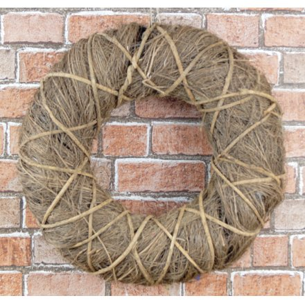Brown Twig Wreath, 36cm