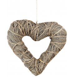 A charming rustic twig wreath in a beautiful bold heart design. Ideal for home and occasion decoration.