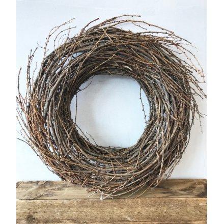 Rustic Twig Wreath 38cm