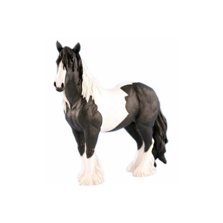 Black & White Gypsy Cob Figure (Large)
