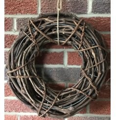 A charming rustic wreath in natural brown