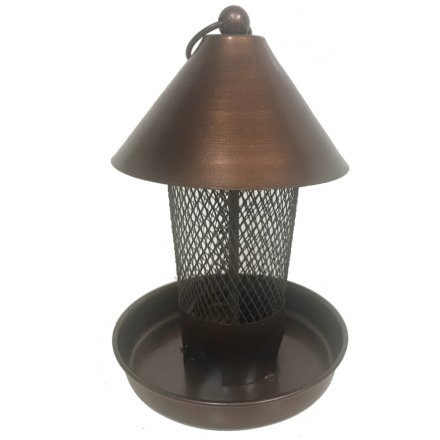 Copper Metal Meshed Bird Feeder