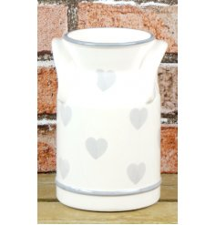 A beautifully simple Country Home inspired Milk Churn featuring a smooth glaze finish and added heat prints