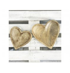 A rustic style wooden heart dish. Ideal for storing trinkets, treasures and nibbles.