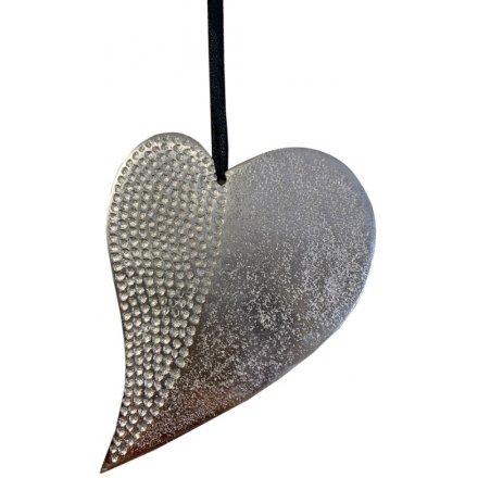 Decorative metal hanging heart-Neuf