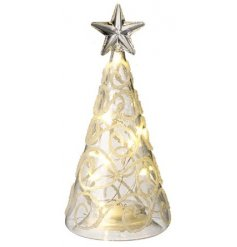 Bring a soft warm glow to any interior this Festive Season with this charming Glass Tree decoration