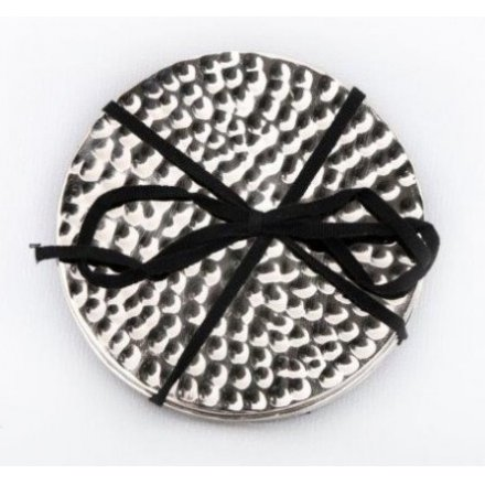 Hammered Coasters, Silver