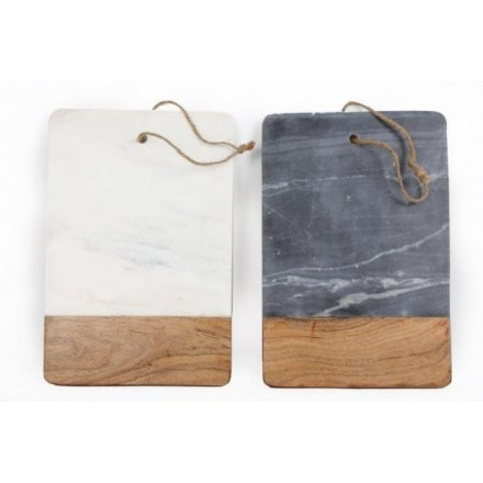 Marble & Wood Chopping Boards, 2assort