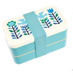 Enjoy lunch on the go and picnics in the park with this bold and beautiful dual compartment bento box.