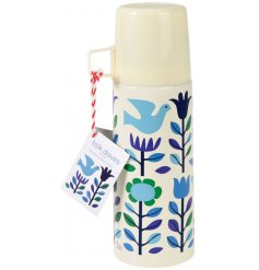 Enjoy your warm drinks on the go with this chic and stylish travel flask with cup.