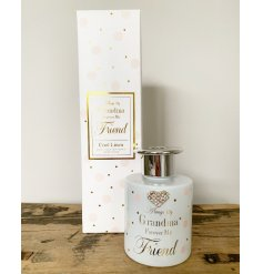 Always my Grandma forever my friend. A stylish reed diffuser from the popular Mad Dots range.