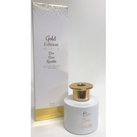 A stylish and glamorous scented reed diffuser.
