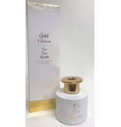 A stylish and beautifully scented live, love and sparkle reed diffuser.