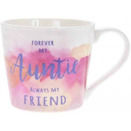 A beautiful pink and coral watercolour design mug with a lovely sentiment slogan at the bottom. Comes gift boxed.