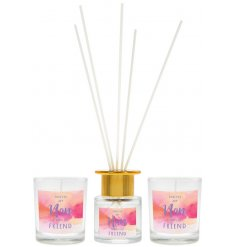 A beautiful fragrance gift set for Nan, including two scented candles and a reed diffuser.