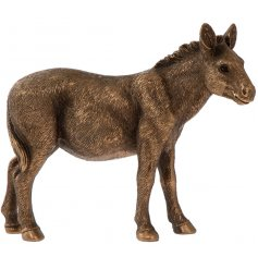 A fine quality donkey figurine from the popular Bronzed Reflections range.