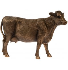 An attractive country living cow figure from the popular bronzed reflections range.