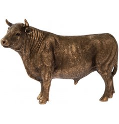 A fine quality bronze bull decoration from the popular bronzed reflections range.