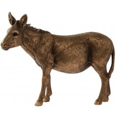 A country living bronze donkey figurine from the popular bronzed reflections range.