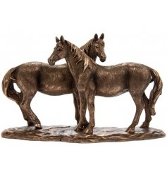 A beautifully crafted, fine quality twin horse decoration from the popular Bronze Reflections range.