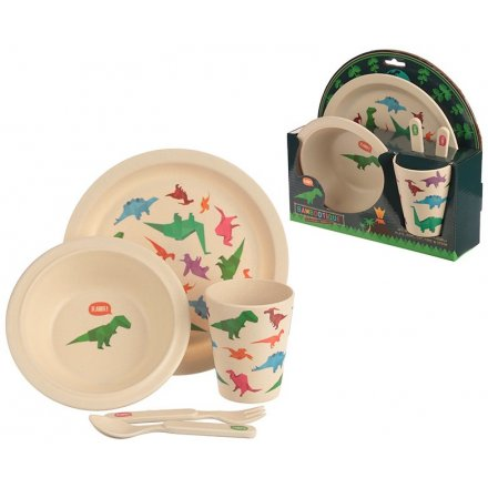 Bring a ROARsome Dino touch to any little ones dinner time with this Eco-Friendly dinner set