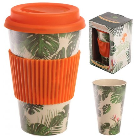 Greenery Plants Bamboo Travel Mug