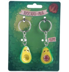 Share this split avocado keyring with your bestie or loved one. A cute and unique gift item.
