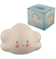 Save up all your pennies for a rainy day inside this chirpy little cloud shaped money box