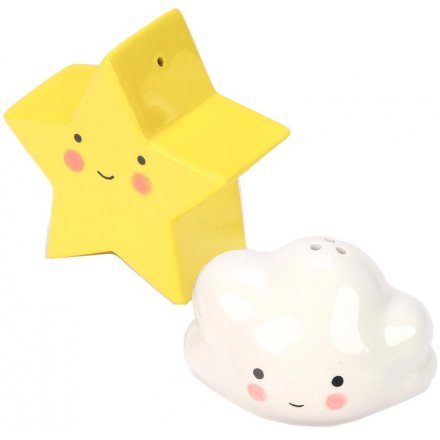 Cloud and Star Salt & Pepper Shakers